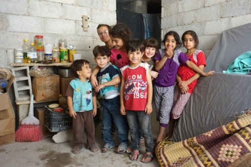 Children of internally displaced Syrians, in Damascus (Credit: P.Balleis/JRS)