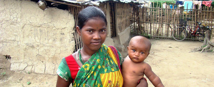 Nepal mother and baby