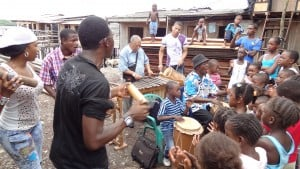 The JRS music project in action (Photo: L. Fernando).