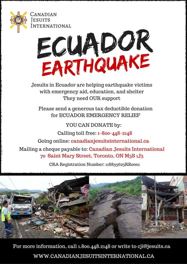 Ecuador earthquake poster