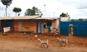 Kangemi, a slum on the outskirts of Nairobi, the Kenyan capital. Despite surges in economic growth in developing countries, billions of people still live in poverty (D. Zammit Lupi/AJAN).