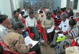 Community leaders engage in social analysis with HLDRC (photo: P. Toppo).