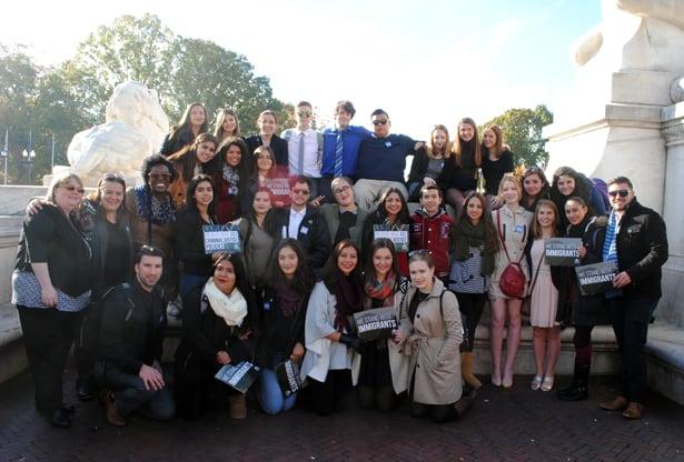 Canadian participants on Advocacy Day. (Photo: U. Umenyi/CJI)
