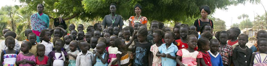 Students at the JRS nursery school in the host community, Maban, South Sudan (Andrew Ash/Jesuit Refugee Service)