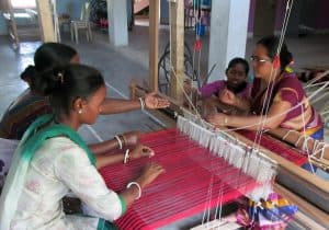 Livelihood training in weaving at HLDRC (Photo: HLDRC)