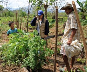 Follow-up of productive activities in the village of Ventura, Bolívar, Colombia. (Photo: Cindy Jimenez)