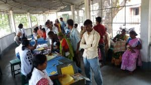 Weekly Leprosy clinic in Malaguri, India
