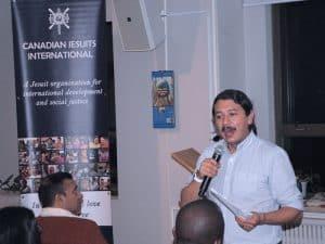 Fr Arturo presenting at the Mary Ward Centre in Toronto