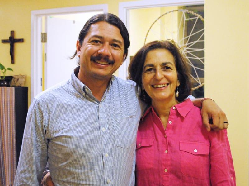 Fr Arturo and Jenny Cafiso