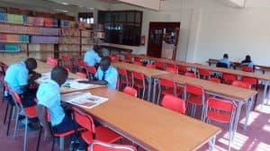 OCJC Students using the library