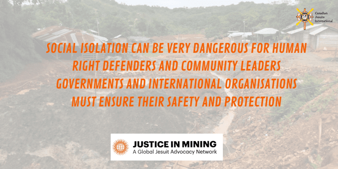 Justice in Mining statement on the COVID-19 pandemic