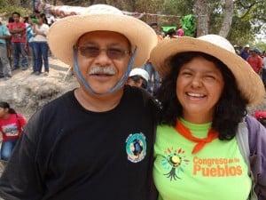 Ismael Moreno Coto SJ and Berta Cáceres (Photo: Fr Melo and ISN)