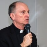 Fr Tom Smolich talks about JRS's response to refugee crises. (Photo: C. Hincks/CJI)