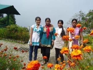 Nursing students at Jesu Ashram.