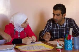 Education programs have been implemented across the Middle East to support Syrian refugees.