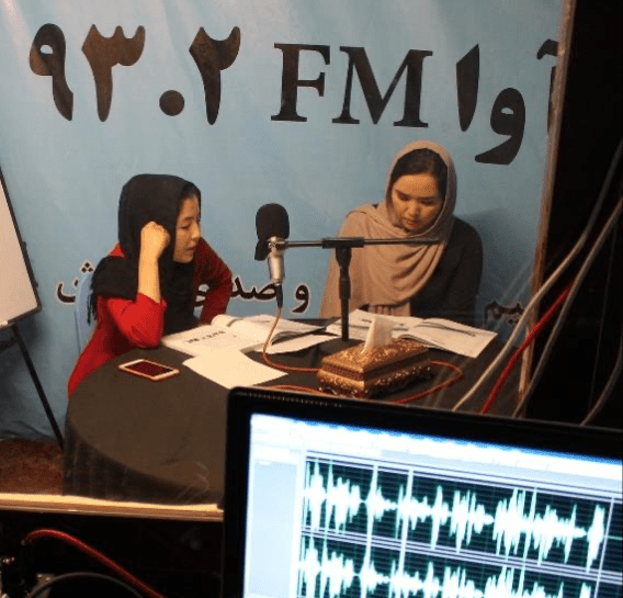 Radio classes in Herat, Afghanistan